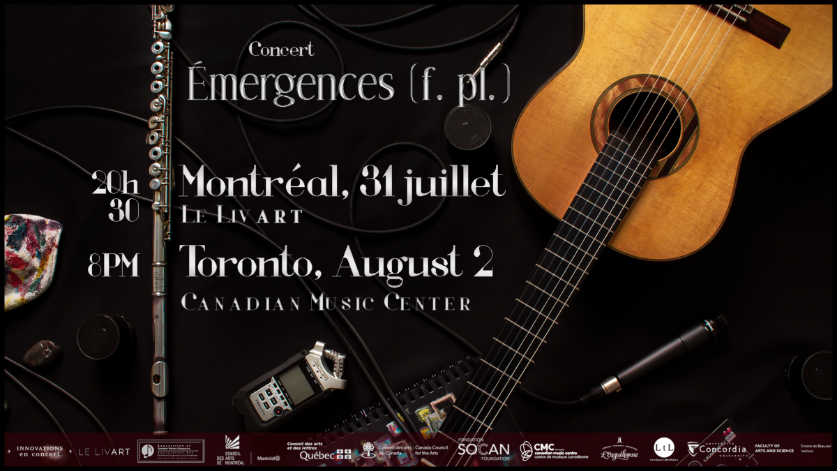 Émergences (f. pl.) concert image for Montreal and Toronto events
