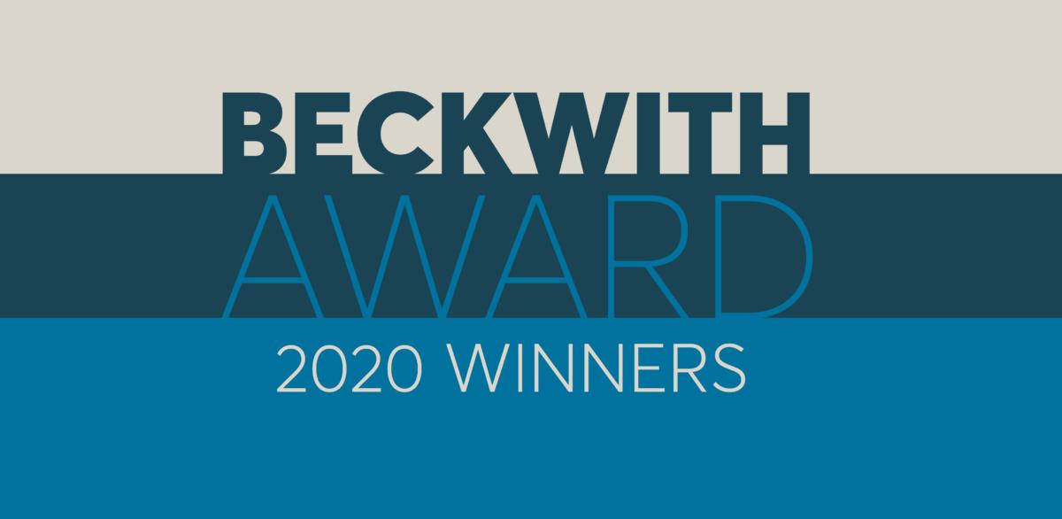 2020 Beckwith Award Winners Banner Image